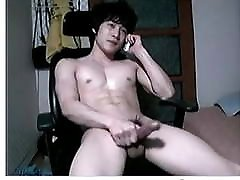 Hot Korean Showing Off While On The Phone