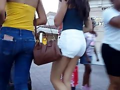Candid voyeur teen white shorts gorgeous