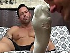 Stunning hunk daddy Joey souny lone sexs licked by his man whore