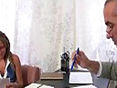 Demure hottie gets her fascinating pussy ravished by teacher