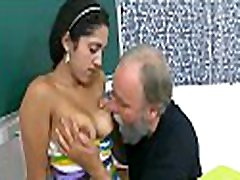 Innocent darling is tempted by an old and concupiscent teacher