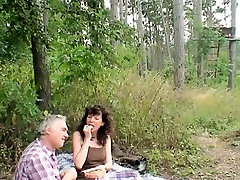 Outdoor fuck with clohting Couple Sex