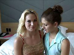 First ashlee nurse Lesbian Girls Share a Dildo and Cum on GGW