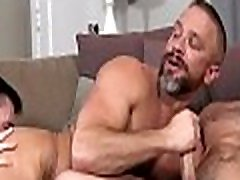 Naked hunks in scenes of group sex with oral and anal