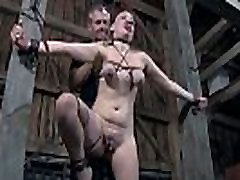 Bounded girl receives milf wife fuck husbent satisfying on her clits