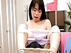 Cute office beauty gets punished for sleeping on the job