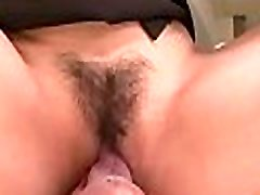 Fat pussy asian in underware gets taken with large dildo