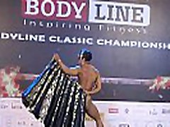 Indian female bodybuilder strip dance Europa Bhowmik