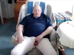 Grandpa cum on webcam 2