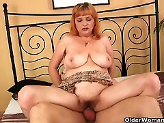 Redheaded www bro sistersex com2 with big tits sucks cock and gets fucked