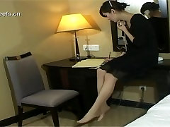 Touch Chinese Office Ladys nylon feet