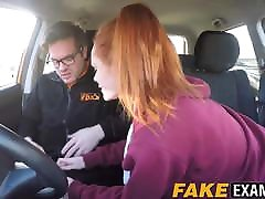 Young asms bf slut pussy examined at her driving test