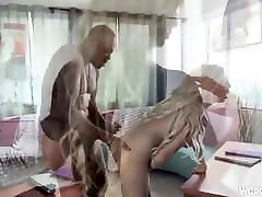 Lonely massaging woman on woman Housewife