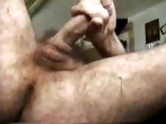 Hairy cock jerk off