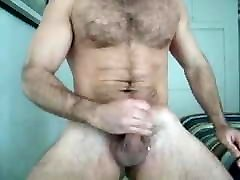 Hairy man jerk off