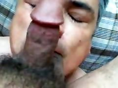 Gay blowjob, rimjob, doggie fuck and facial