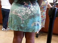 Ebony thick legs in the bank line