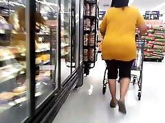Big butt ebony granny grocery shopping