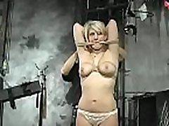 Breasty honey gets nipple-tortured in s&ampm style scene