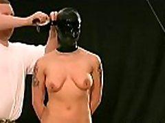 Obedient doxy craves breast bondage stimulation on cam