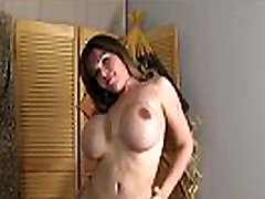 Curvylicious TS beauty smokes before jerkoff