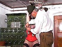 brutal fetish lesson with busty german mature
