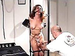 This curvy whore relishes some hardcore bondage time