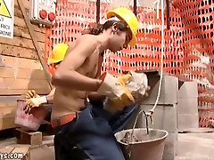 Steamy OldYoung turkish porn 2 sex at a construction site