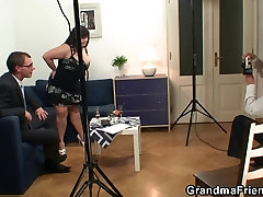 Huge titted alex mae behind the scen takes two cocks