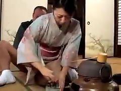 Asian japanese kimono MILF&039;s sex life
