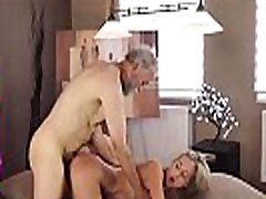 OLD4K. Middle-aged teacher ape and jane student have good time at his home