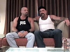 Muscular bear ass fingered and fucked