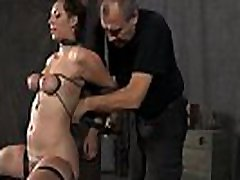 Beautiful slaves are tied and given hardcore fat anty bath castigation