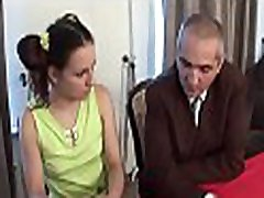 Sweet chick is getting spooned by horny old teacher
