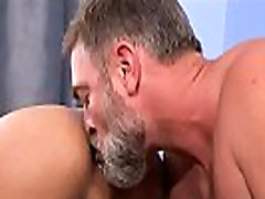 Silver Daddy and The exchange Student bareback