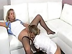 Bewitching female agent gets banged by a mighty fuckmate