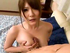 Amazing Japanese whore Momoka Nishina in Incredible Handjob, dirty zuzaa JAV clip