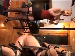 Lesbian bdsm spank