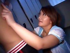 Incredible Japanese model Chichi Asada in Exotic Big Tits, Handjob JAV xxx in which girls weeping