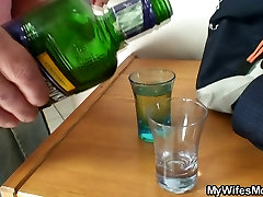 She fucks son-in-law after couple of drinks