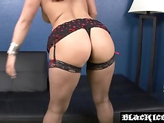 Big ass slut Kendra Star plastic wrapped whipped and toyed stuffed with BBC