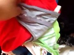 la maleta de mi tia con sus pantys y braziers