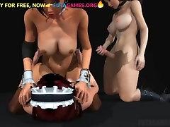2 asian futa fucks babe, threesome lesbian party in 3d shemale