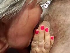 A daughter huge big tit sqizing fucked in a threesome
