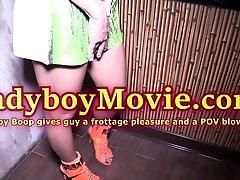 Ladyboy Boop Frottage n Blowjob