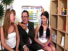 Horny older teacher is seducing babe&039s lusty beaver