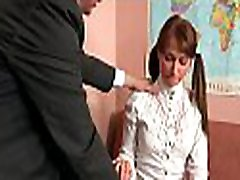Wild and mind-blowing lesson with horny older teacher