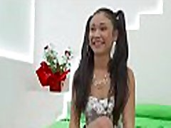 Teenie widens her legs widely to have a fun dick-riding scene