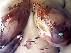 Huge ebony tits