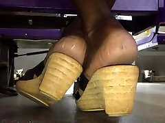 Mature ebony soles in heels pt. 1